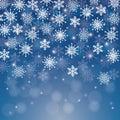 冬天雪或雪花 库存图片