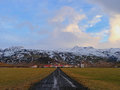 冰岛村庄 库存图片