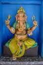 准备好五颜六色的大象ganesha的雕象帮助 库存图片