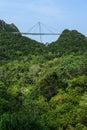 凌家卫岛缆车skybridge 库存图片