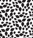 几何模式无缝的向量 现 花卉,叶子纹理 免版税库存照片