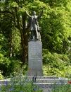 力公园斯坦利 督的雕象 免版税库存图片