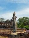 印度上帝雕塑阿努拉德普勒考古学站点的 免版税图库摄影