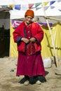 印度查谟克什米尔老ladakh夫人 免版税图库摄影
