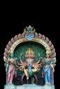 印度雕象寺庙 免版税库存图片