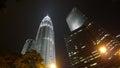 双峰塔摩天大楼在吉隆坡马来西亚 免版税库存照片