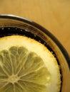 可乐柠檬 免版税图库摄影