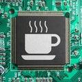咖啡馆cyber互联网 免版税图库摄影