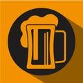 啤酒构思设计 免版税库存照片