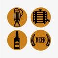 啤酒构思设计 图库摄影