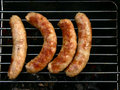 四个香肠 免版税库存图片