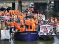 国王的holyday在阿姆斯特丹,荷兰 免版税图库摄影