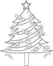 圣诞树着色页 库存照片