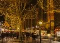圣诞节市场在科尔马 免版税图库摄影