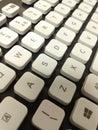 在一个 键盘的白色钥匙 免版税库存照片
