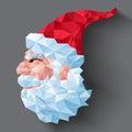 在三角的圣诞老人 库存图片