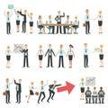 在企业工作过程和修造infographic的配合 免版税库存图片