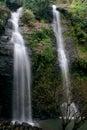在国家公园泰国的深森林瀑布 免版税库存图片