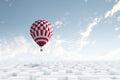 在天空的浮空器 免版税库存照片