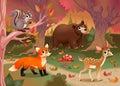 在木 的 稽的动物 免版税库存图片