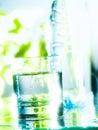 在玻璃的淡水 免版税库存图片