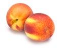 在白色隔 的桃子 免版税库存照片