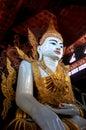 在缅甸的大菩萨图象 免版税图库摄影