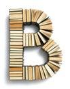 在 页 尾形成的b上写字的书 免版税库存图片