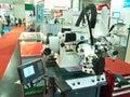 在asiean metallex  bitec,曼谷的新的重的机器 免版税库存照片