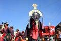 在Ladakh节日期间的文化procesion 图库摄影