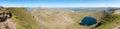 地区helvellyn湖全景视图 免版税库存照片
