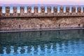城堡墙壁在 中在意大利 库存照片
