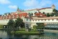 城堡欧 老照片布拉格河旅行vltava 免版税库存图片