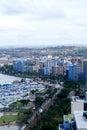 城市沿海地平线 库存图片