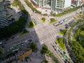 城市的交叉路,珠海中国 免版税库存图片