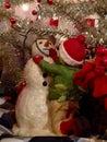 塑造雪人雕象 免版税图库摄影