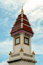 塔时钟泰国样式 免版税图库摄影