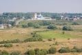 夏天横向,亲切从塔,城市Suzdal 免版税库存照片