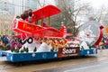 多伦多圣诞老人游行 免版税库存图片