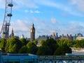 大厦都市风景海岸横向伦敦现 河显示泰晤士 免版税库存照片