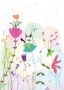大气猫eps植物群 免版税库存图片