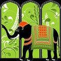 大象印地安人 免版税图库摄影