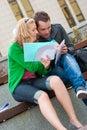 夫妇学员学习 库存图片