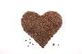 好的心脏用咖啡豆 免版税库存照片