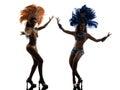 妇女桑 舞蹈家剪影 库存图片
