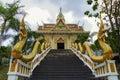 对寺庙的台阶 免版税库存图片