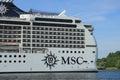 尔森,荷兰,  月 日, :msc magnifica 免版税库存图片