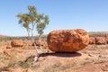 巨型冰砾恶魔大理石澳大利亚 免版税库存图片