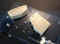 干酪部分 图库摄影