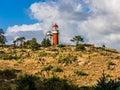 弗利兰岛灯塔,荷兰 免版税库存图片